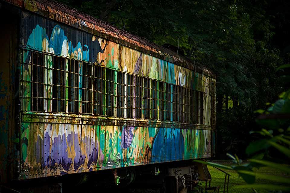 Colorful Train Wagon, Summit Gardens, Republic of Panama